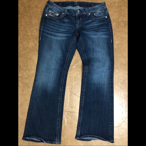 54587e92253 VIGOSS Plus Size Jeans The Dallas Slum Boot 18